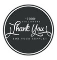 thank you for your support round label vector image