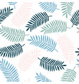 tropical background with colorful palm leaves vector image vector image