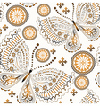 Vintage seamless pattern with gold butterflies vector image vector image