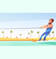 water skiing vector image