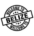 welcome to belize black stamp vector image vector image