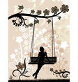 woman on a swing vector image vector image
