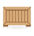 wood crate vector image vector image