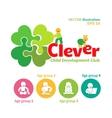 logo of child development club vector image