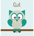 owl bird vector image