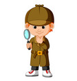 a smart young detective vector image