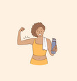 active lifestyle and workout concept vector image