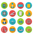 aiport icon set vector image vector image