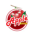 apple juice logo vector image vector image