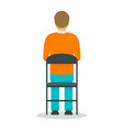 back of man icon flat style vector image