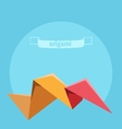 background with colorful origami vector image vector image