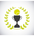 ball and trophy icon Tennis design vector image vector image