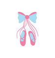 ballet shoes style with ribbon bow vector image vector image