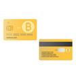 bank debit card bitcoin crypto currency eps 10 vector image