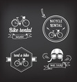 Bike rental design concept vector image vector image