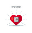 blood pressure concept in flat style vector image