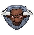 Bull head 3 vector image vector image