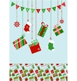 christmas socks and presents vector image vector image