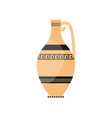 classic greek ceramic pottery vase with ancient vector image