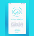 cloud services in mobile app vector image vector image