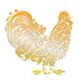 Cockerel golden decorative rooster vector image vector image