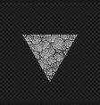 cracked triangular shape vector image vector image