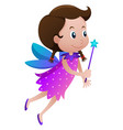 cute fairy with blue wings vector image vector image