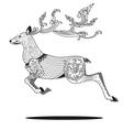 deer line art 2 vector image vector image