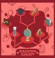 education color isometric concept vector image vector image