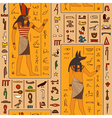 egyptian gods and ancient egyptian hieroglyphs vector image vector image