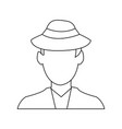 faceless man wearing hat icon image vector image vector image