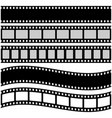 film strip in flat style vector image vector image