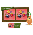 find 9 differences ladybird vector image vector image