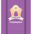 first communion card design vector image vector image