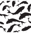 fish silhouette seamless pattern underwater vector image vector image