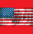 flag of usa with san francisco skyline vector image vector image