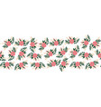 flat flowers seamless border horizontal vector image