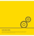 gears infographic template For web vector image vector image