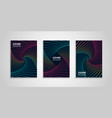 geometric colorful covers set vector image vector image