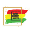 golden and black history month colorful emblem vector image vector image