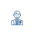 groom line icon concept groom flat symbol vector image vector image