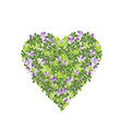 heart from leaves vector image vector image