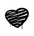 heart graffiti spray banner graphic spray paint vector image