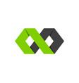 hexagon infinity logo icon design vector image