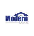 home builder contractor and real estate logo vector image