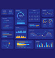 hud interface futuristic ui screen with data vector image vector image