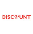 Icon concept of discount word with store awning