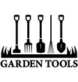 icon with set garden tools vector image vector image