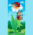 image with ladybug theme 4 vector image