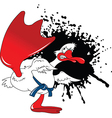 Karate goose cartoon vector image vector image